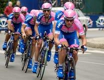 Cyclistes dans le d'italia de chèques postaux Image libre de droits