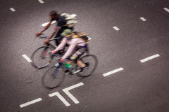 Cyclistes de Londres Photo stock