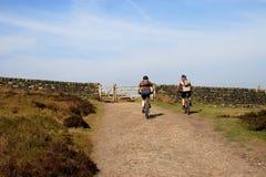 Cyclistes de montagne Images libres de droits