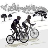 Cyclistes de montagne Images stock