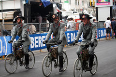 Cyclistes militaires Images stock