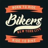 Cyclistes New York City Image libre de droits
