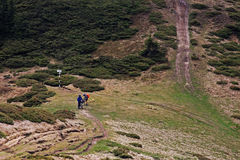 Cyclistes sur la montagne Image libre de droits