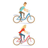 Cyclistes sur le vélo urbain Photographie stock libre de droits
