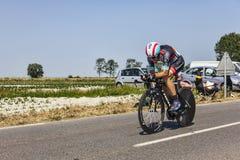 CyclistMaxime城堡 免版税库存照片