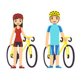 cyclists illustrazione vettoriale