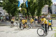 cyclists Fotografia de Stock Royalty Free