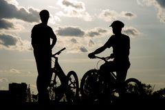 Cyclists Royalty Free Stock Image