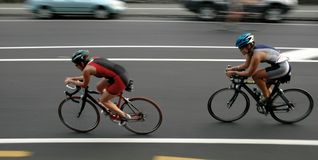 Cyclists Stock Photo