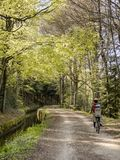 Cyclists. In black mountain, france Stock Images