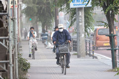Cyclists brave ash after volcanic eruption