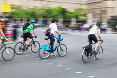 Cyclists in the city Royalty Free Stock Image
