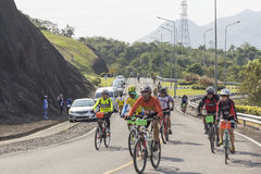 Cyclists compete in the Khao Sok marathon Stock Photos