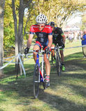 Cyclists competing in cyclocross race Stock Photography
