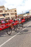 Cyclists competing in the Giro D'Italia 2014 Stock Images