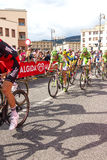 Cyclists competing in the Giro D'Italia 2014 Royalty Free Stock Photos