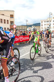 Cyclists competing in the Giro D'Italia 2014 Royalty Free Stock Photography