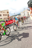 Cyclists competing in the Giro D'Italia 2014 Royalty Free Stock Images
