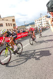 Cyclists competing in the Giro D'Italia 2014 Royalty Free Stock Photo