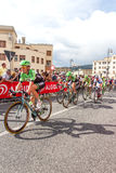 Cyclists competing in the Giro D'Italia 2014 Royalty Free Stock Image