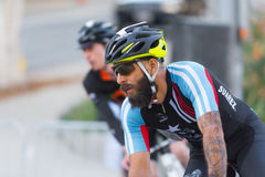 Cyclists competing Stock Photography