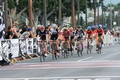 Cyclists competing Royalty Free Stock Photography