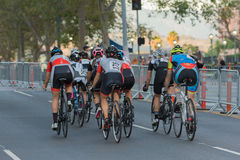 Cyclists competing Royalty Free Stock Photos