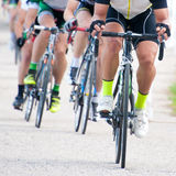 Cyclists in Competition. Cyclists competing in a race royalty free stock images