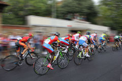 Cyclists competition_Motion Royalty Free Stock Photos