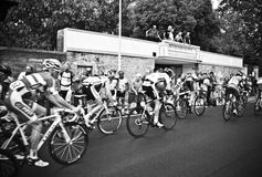 Cyclists competition Royalty Free Stock Photos