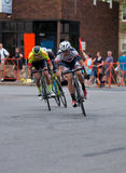 Cyclists on Course at Uptown Criterium Royalty Free Stock Photos