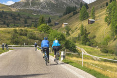 Cyclists in the Dolomites Stock Photo