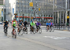 Cyclists on the Five Boro Bike Tour in New York Stock Images