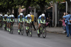 Cyclists in giro d'italia Stock Image