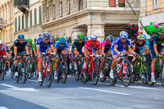 Cyclists, Giro d'Italia Royalty Free Stock Photography