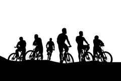 Cyclists group 04 Royalty Free Stock Photo