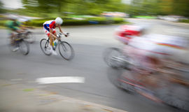 Cyclists last sprint Stock Photos