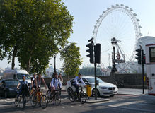 Cyclists in london, england Royalty Free Stock Photography