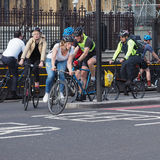 Cyclists in London Royalty Free Stock Photo