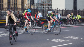 Cyclists in London Royalty Free Stock Photography