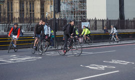 Cyclists in London Stock Image