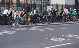 Cyclists in London Royalty Free Stock Images