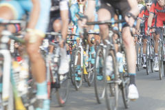 Cyclists, motion blur Stock Image