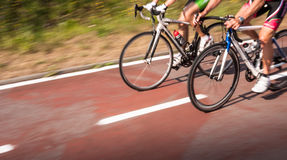 Cyclists in motion Stock Photography