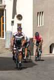 Cyclists pedaling Stock Photos