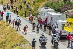 The Cyclists Quintana and Valverde -Tour de France 2015 Royalty Free Stock Photos