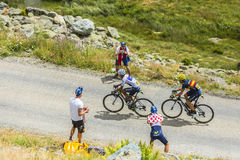 The Cyclists Quintana and Valverde -Tour de France 2015 Stock Photo