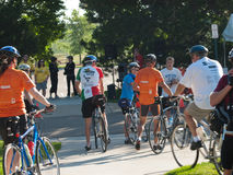Cyclists race Royalty Free Stock Photo