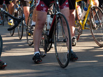 Cyclists race Royalty Free Stock Image