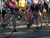 Cyclists race Stock Photography